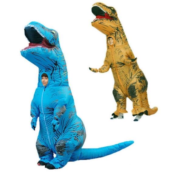 Ozoffer Child Inflatable Trex Dinosaur Costume Kids Boys Jurassic Blow Up T Rex T-Rex