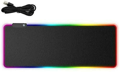 Ozoffer RGB LED Gaming Mouse Pad Desk Mat Extend Anti-slip Rubber Speed Mousepad