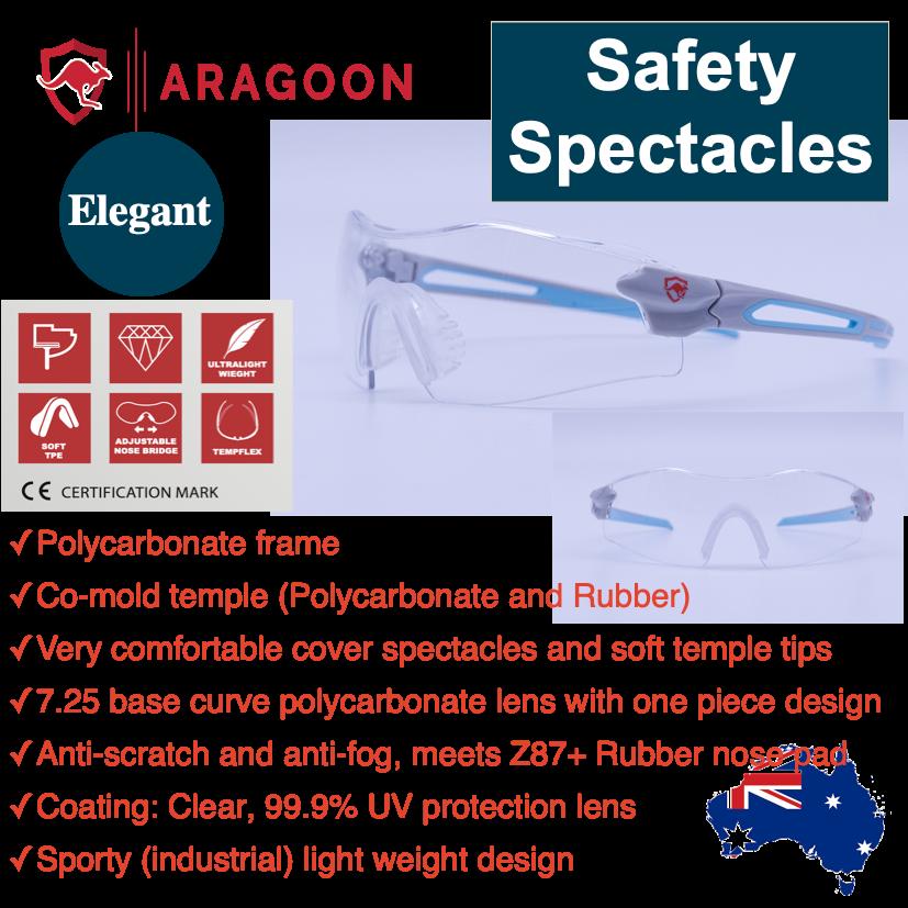 ELEGANT ARAGOON Safety Glasses Spectacles Anti Scratch Anti Fog Eye Protection