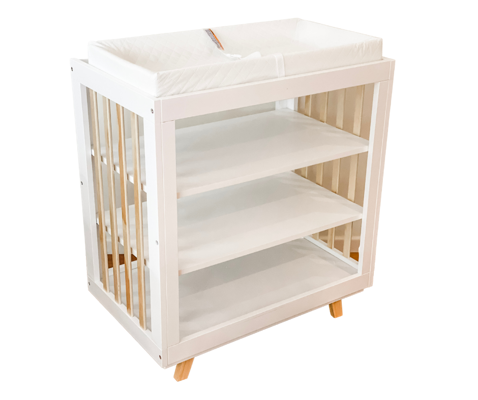 Brooklyn Change Table - Natural/White - In Stock Now!