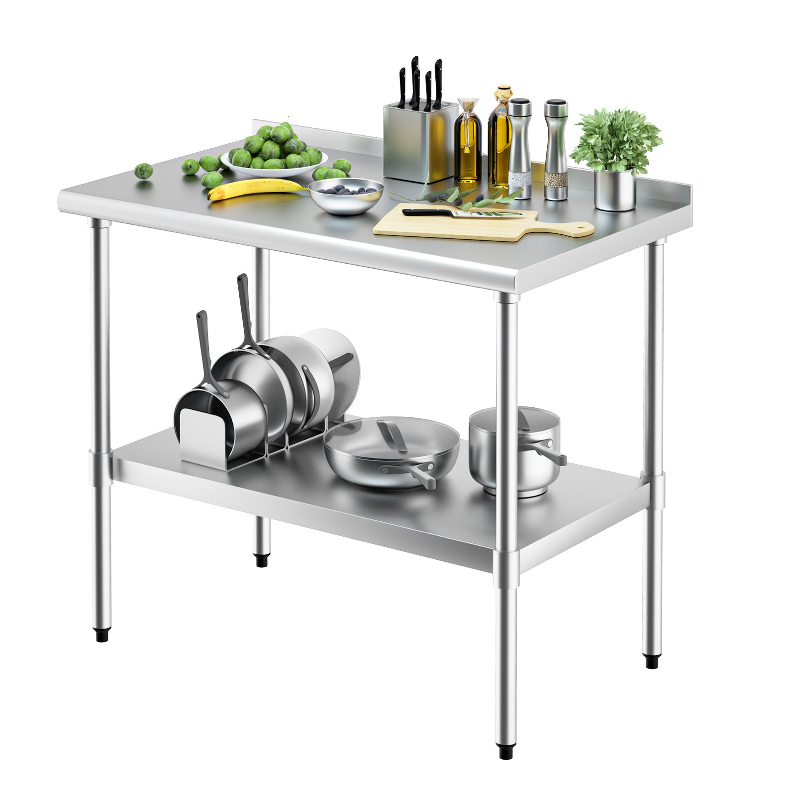 Advwin 1524x610 Stainless Steel Commercial Kitchen Bench Prep Table