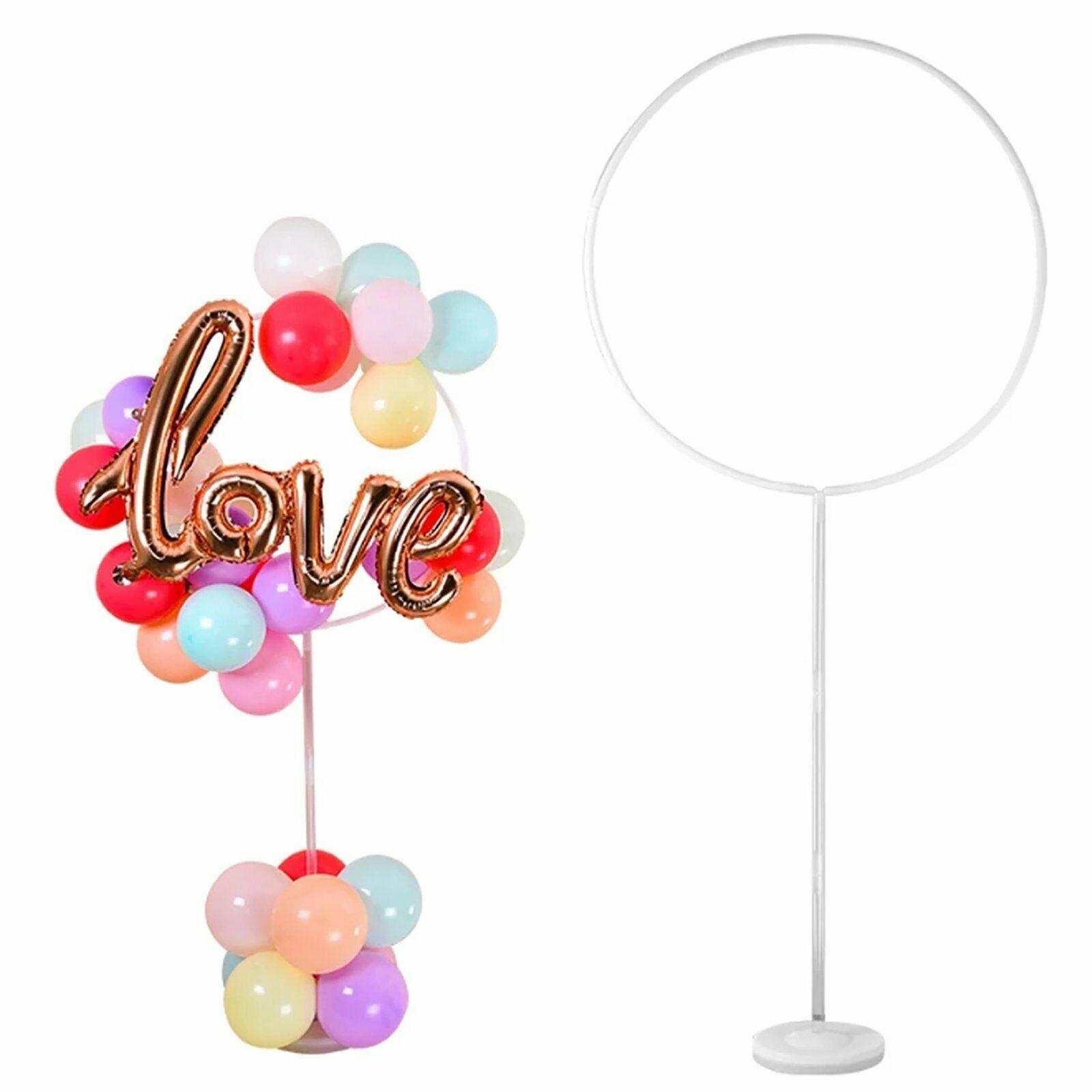 163x73cm Circle Balloon Arch Frame Balloons Stand Holder Kit Wedding Decor