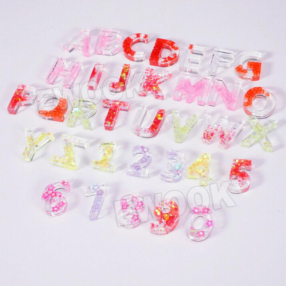Alphabet Number Silicone Pendant Mold Necklace Jewelry Resin Mould Casting Craft