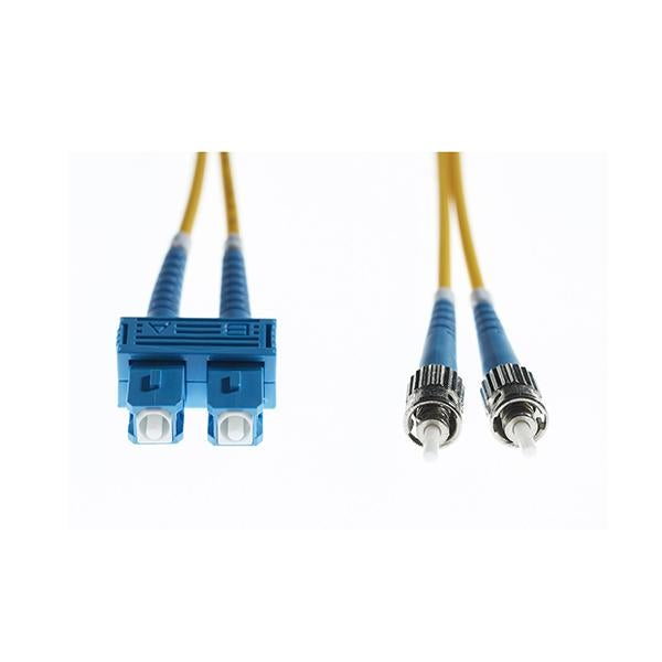 2M Sc To St Os1 Os2 Singlemode Fibre Optic Cable Yellow