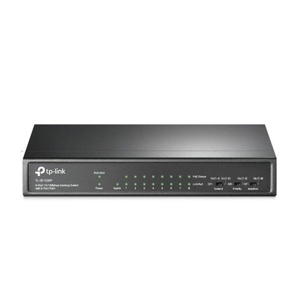 9 Port Tp Link Tlsf1009P Desktop Switch With 8 Port Poe Plus