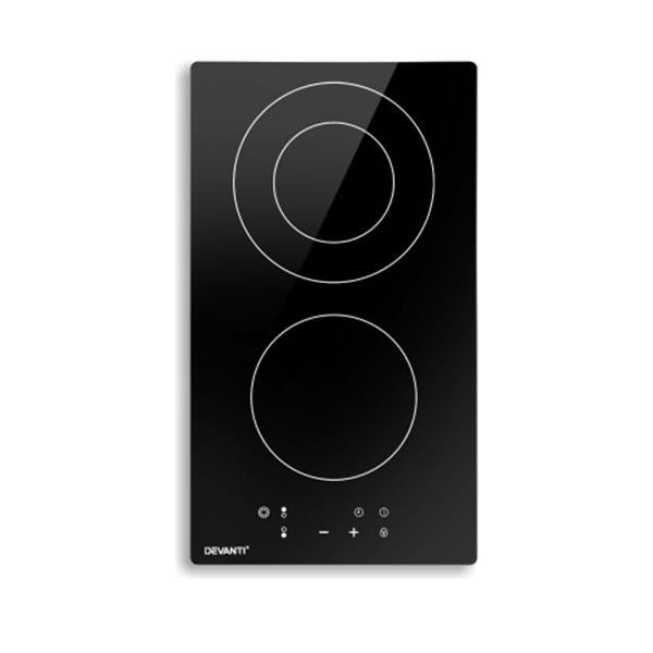 Electric Ceramic Cooktop 30Cm Kitchen Cooker Hob Touch Control 3 Zones