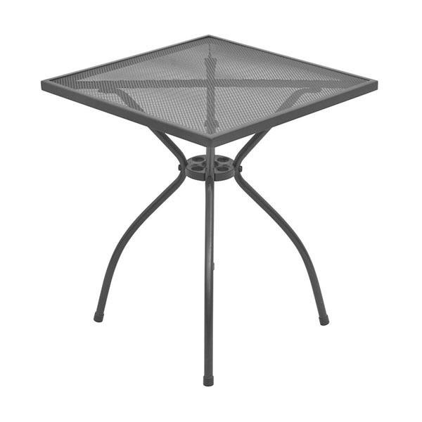 Outdoor Bistro Table Steel Mesh 60 X 60 X 70 Cm