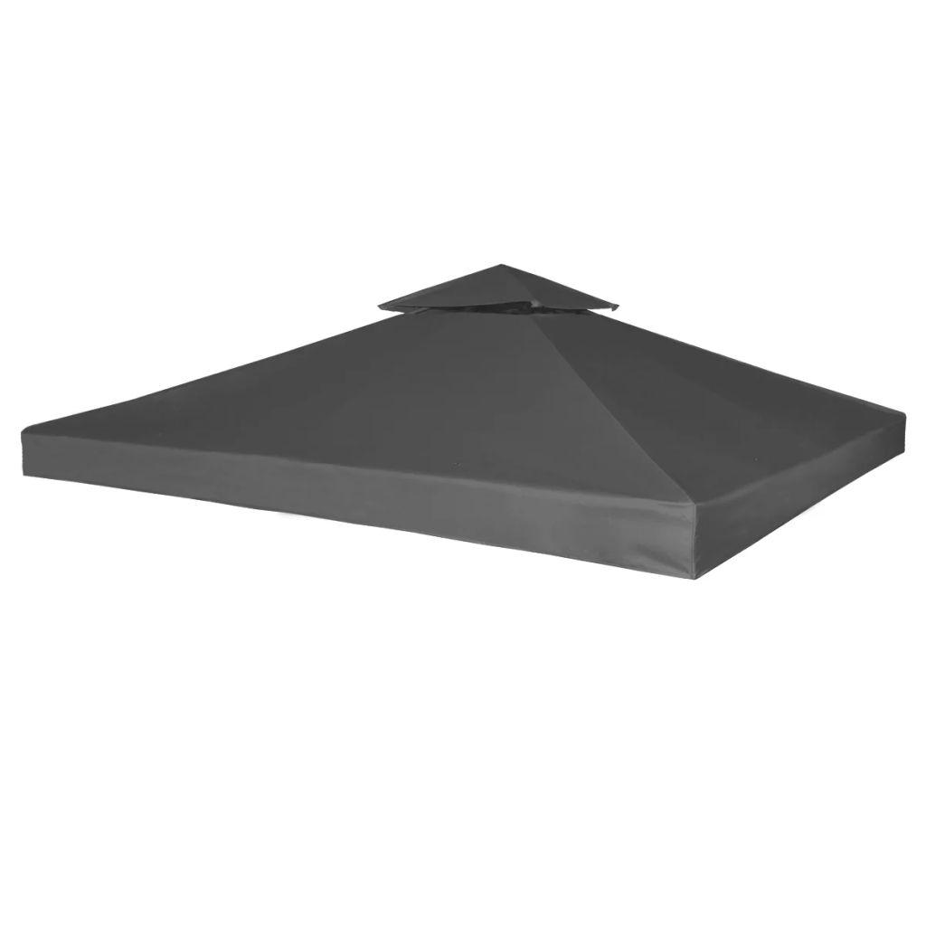 Waterproof Gazebo Cover Canopy 3 x 3 M - Dark Grey