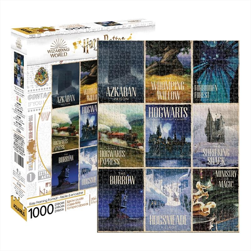 Harry Potter - Travel Posters 1000 Piece Puzzle