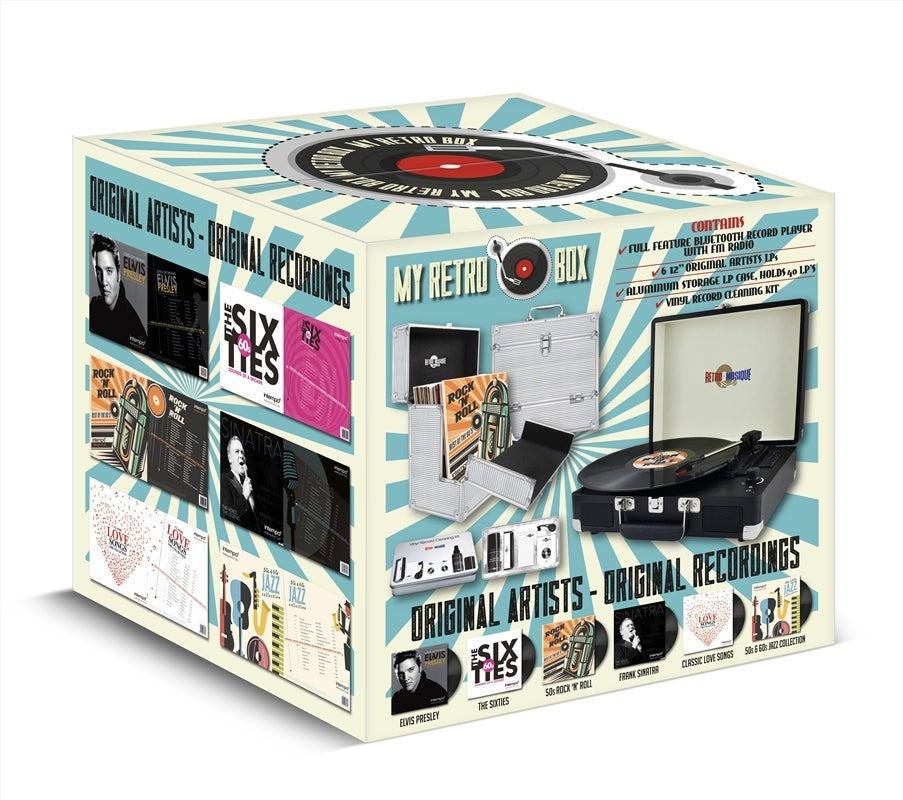 Turntable Vinyl Player My Retro Vinyl Player Bundle Boxset