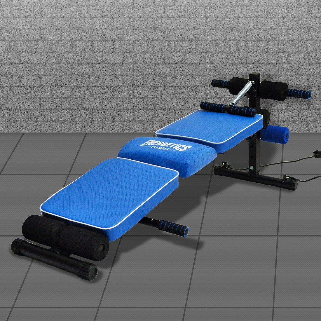 Energetics Sit Up Bench - Crunch Fitness Exercise Back Support Bench Home Gym
