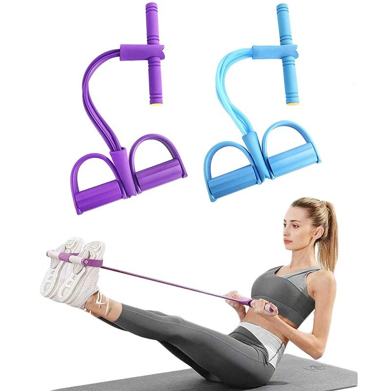 Pedal Resistance Bands Elastic Sit-Up Pull Rope Yoga Fitness Equipment