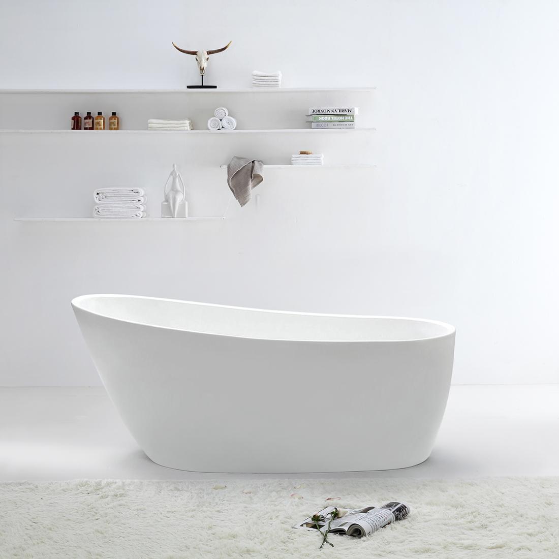 Renolink Bathroom Free Standing Bath Tub 1500X750X700 Thin Edge Freestanding Ren