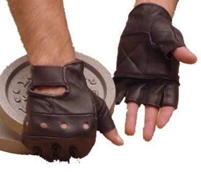 Leather Weight Training Gloves Black