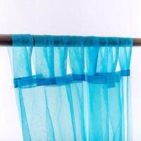 Elegant Organza Tab Top Curtain 2Pcs/Bag 140cm Wide 213/245cm Drop 6 colors