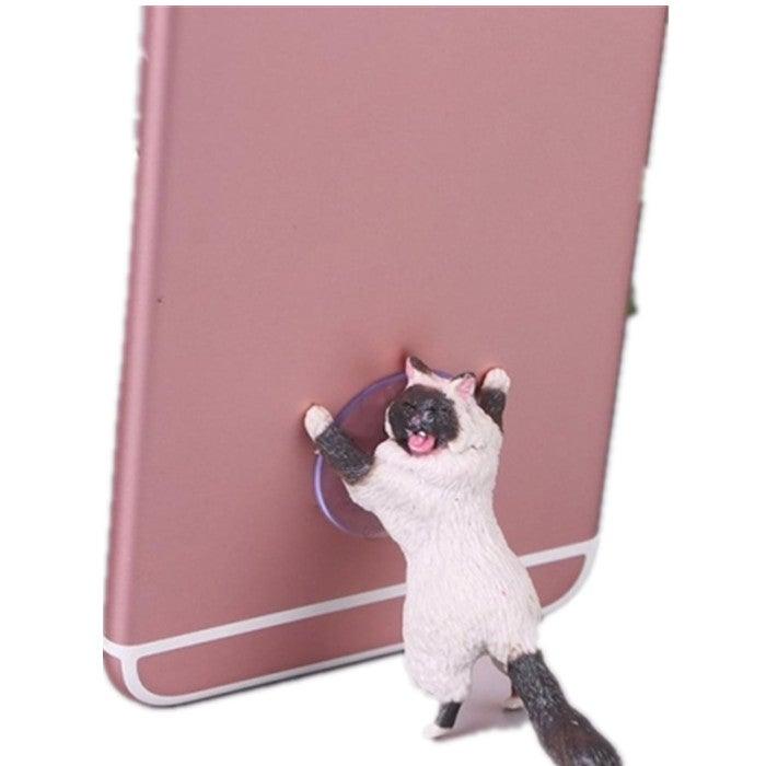 10 Pcs Sucker Design Cute Cat Smartphone Holder