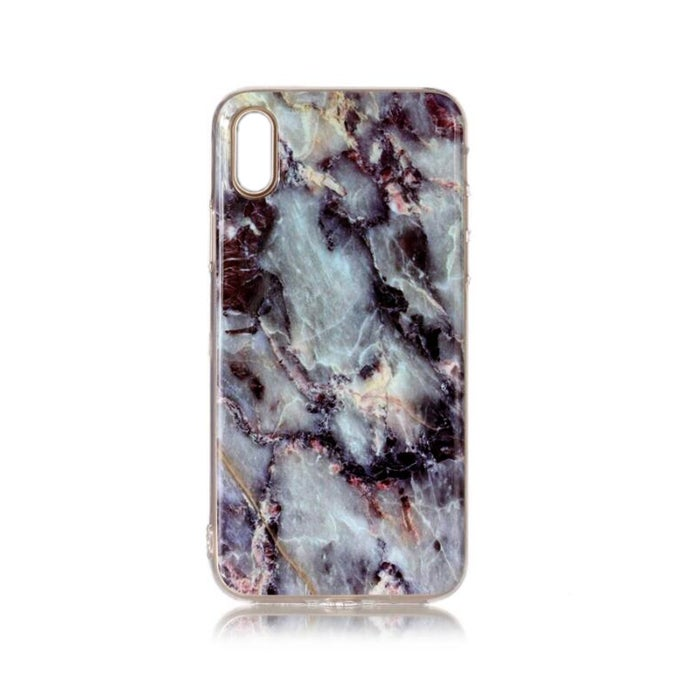 2 Pcs Marble Pattern Soft TPU Protective Case For iPhone XS Max