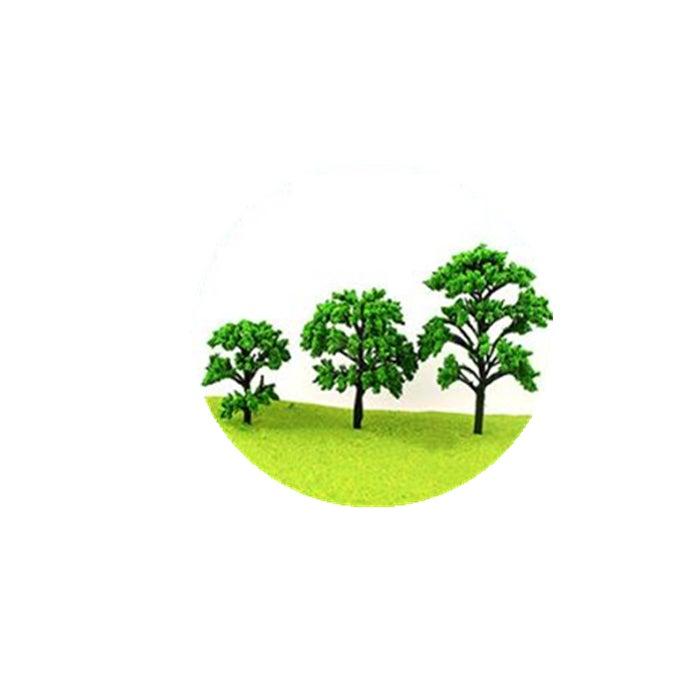 30Pcs Mini Green Trees Architecture Micro Landscape Scenery Railway Model Decorations