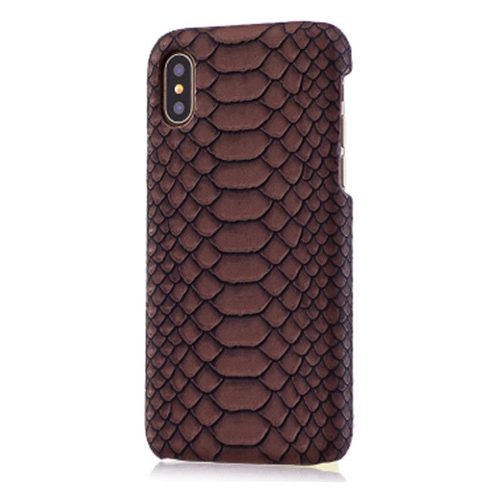 3PC Snakeskin Texture Hard Back Cover Protective Back Case for iPhone 5(Brown)