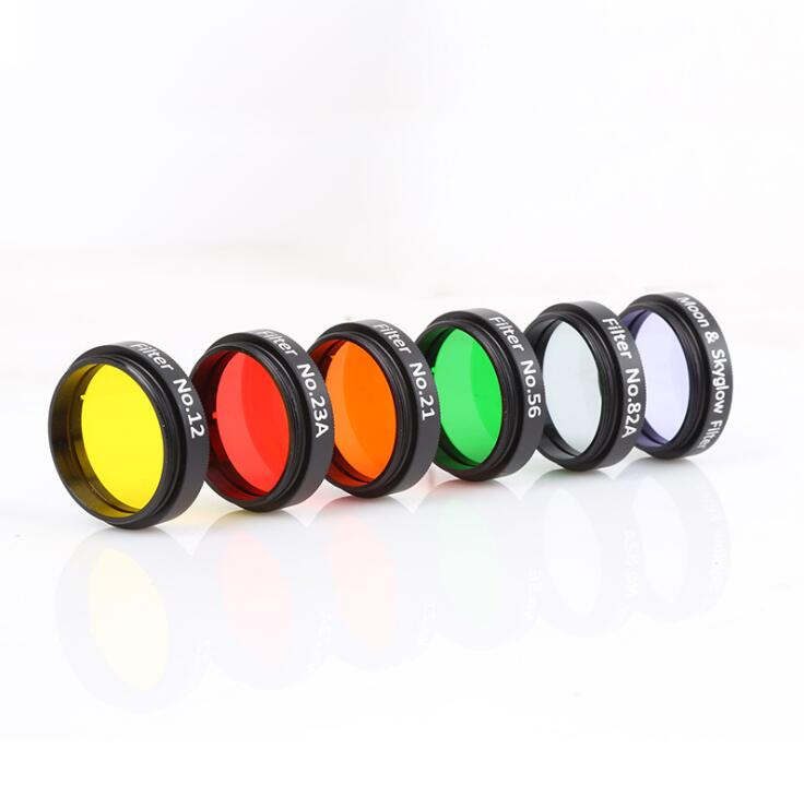 6 Pcs Colorful Telescope Filter Kit Light Reduction for Telescopes Eyepieces
