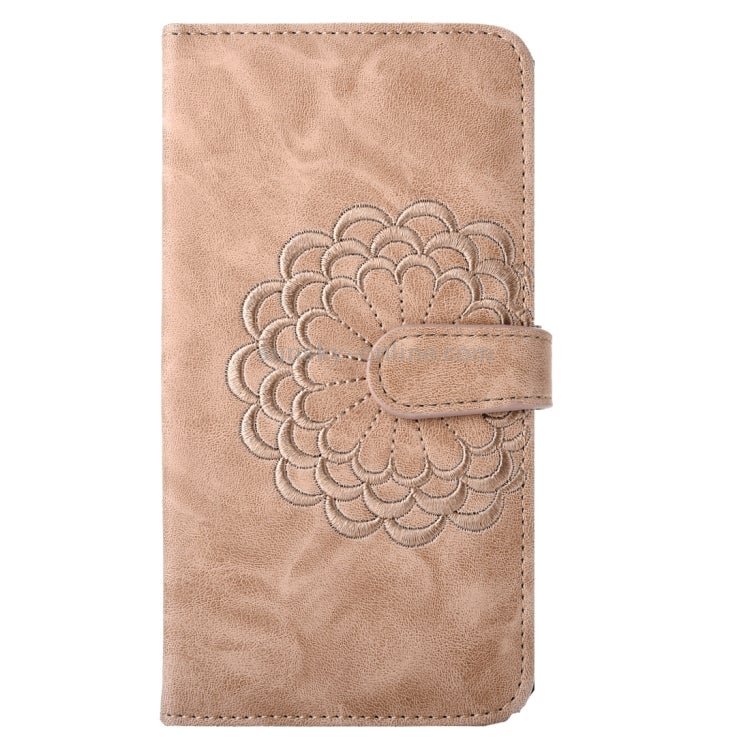 For iPhone 8 & 7 Embroidery Flower Pattern Horizontal Flip Leather Case with Holder & Card Slots & Wallet & Photo Frame