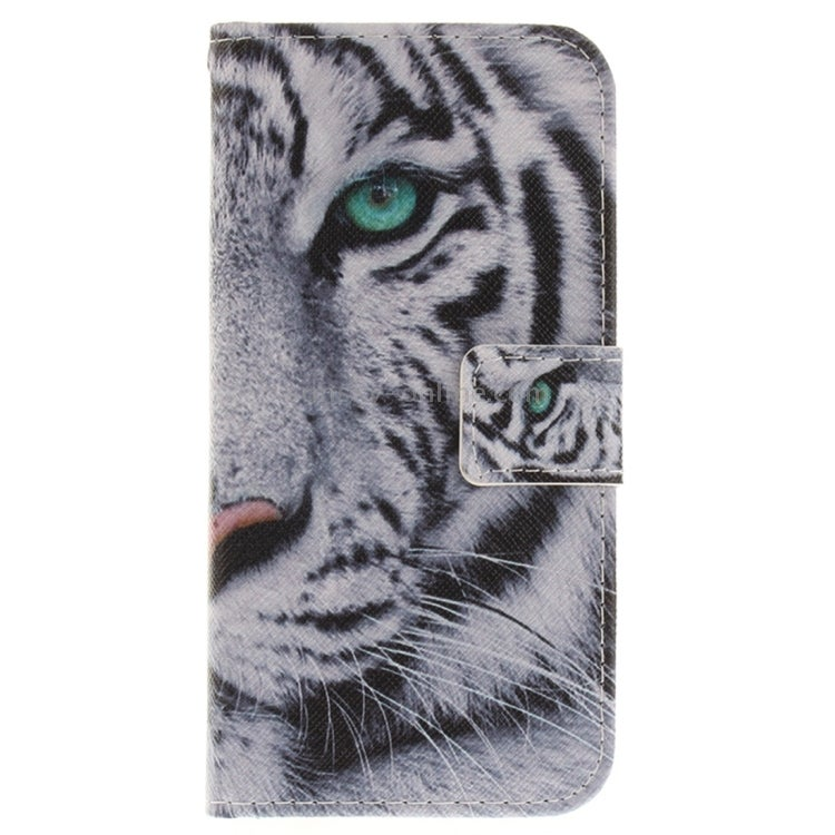 For iPhone X Tiger Pattern Horizontal Flip Leather Case with Holder & Card Slots & Wallet