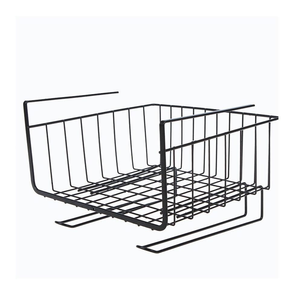 Kitchen Storage Bin Under Shelf Wire Rack Cabinet Basket Organizer Holder Stand Kitchen storage tools Cutlery storage#g30