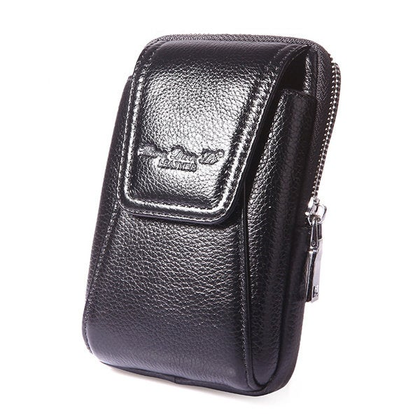 Men Leather Belt Loop Phone Pouch Holster Retro Cell Phone Case Waist Bag
