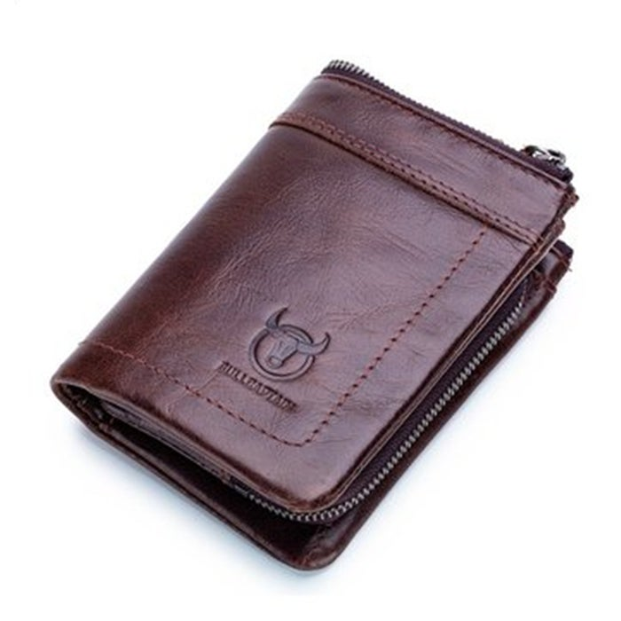 Men PU Leather Casual Functional Wallet