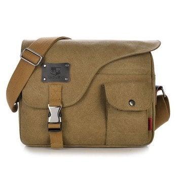 Mens Vintage Canvas Outdoor Messenger Shoulder Crossbody Bag