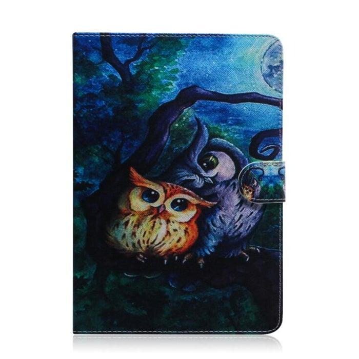 Oil Owl Pattern Horizontal Flip Leather Case for iPad Mini (2019) / 4 / 3 / 2 / 1