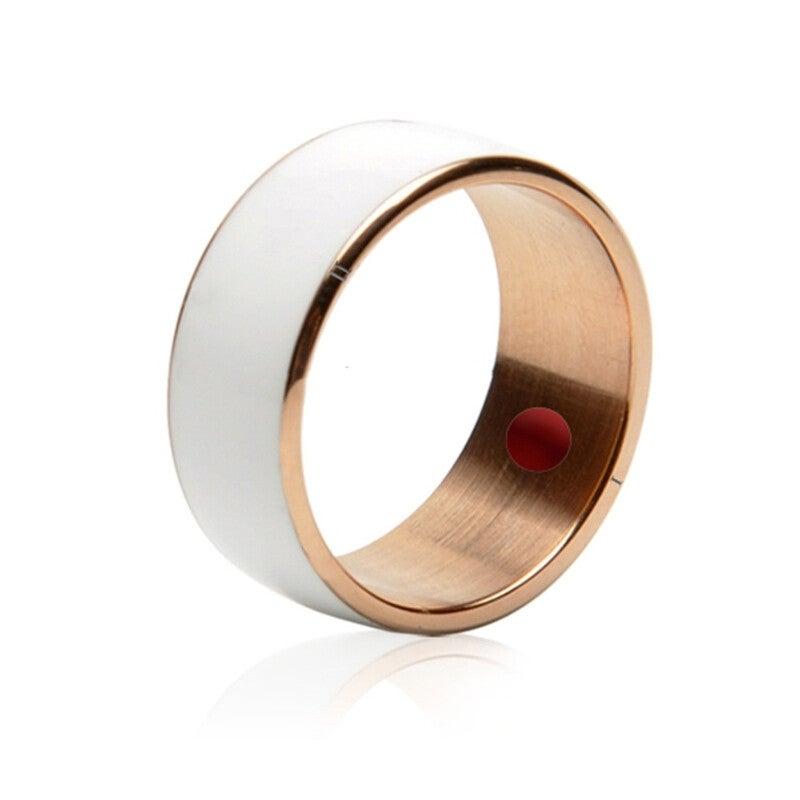 Smart Ring, Waterproof & Dustproof, Health Tracker, Wireless Sharing, Push Message, Inner Perimeter: 66mm(White)