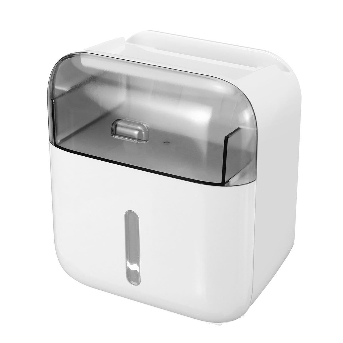 Toilet Paper Waterproof Wall Mount Tissue Double Holder Shelf Tube Storage Box Paper Shelf Holder