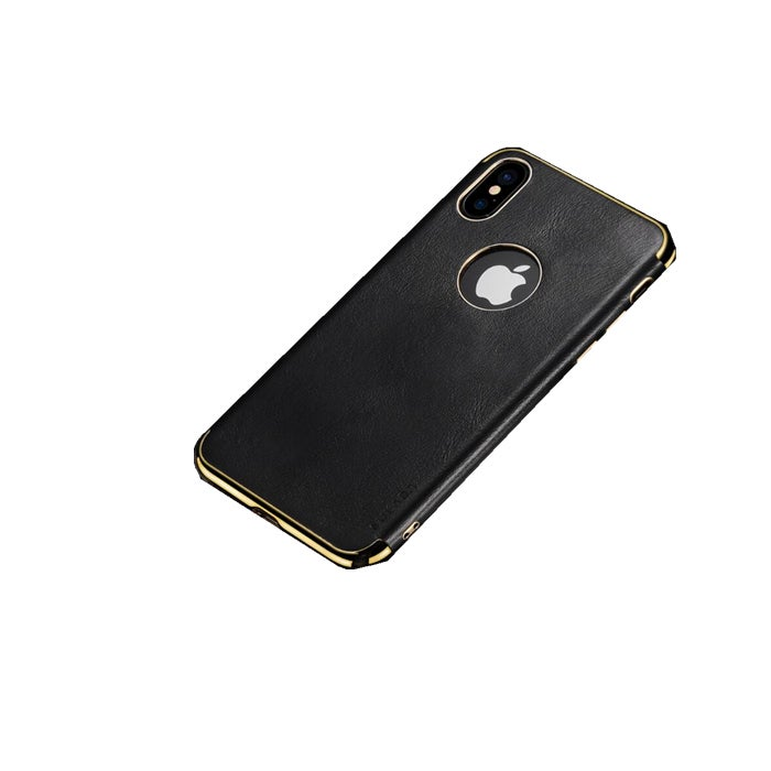 TPU + Leather Magnetic Protective Case for iPhone XS / X