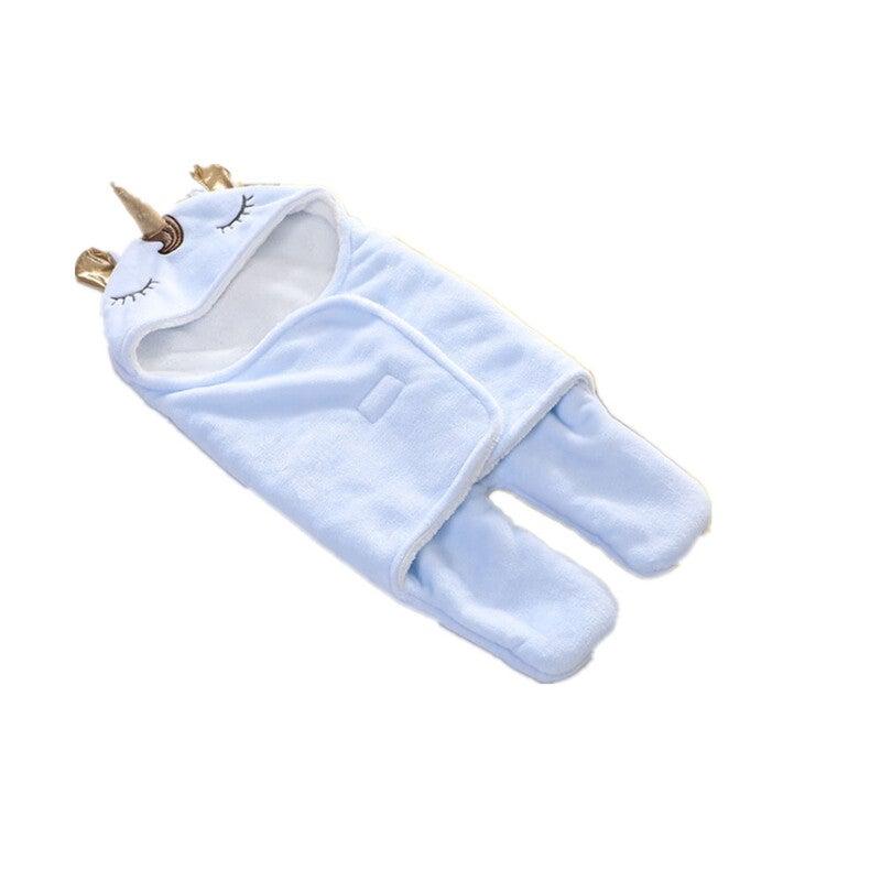 Winter Double Flannel Baby Blanket(Blue)