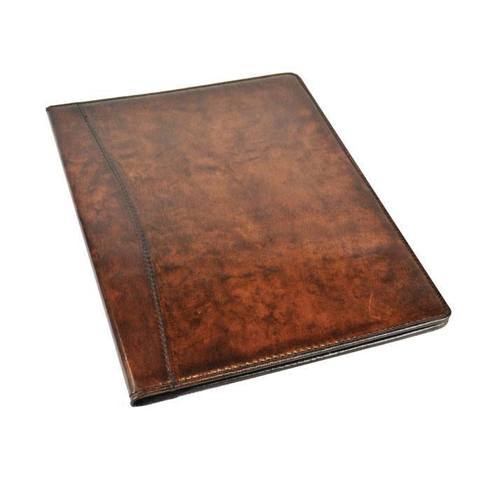 Dark Leather Manila Folder