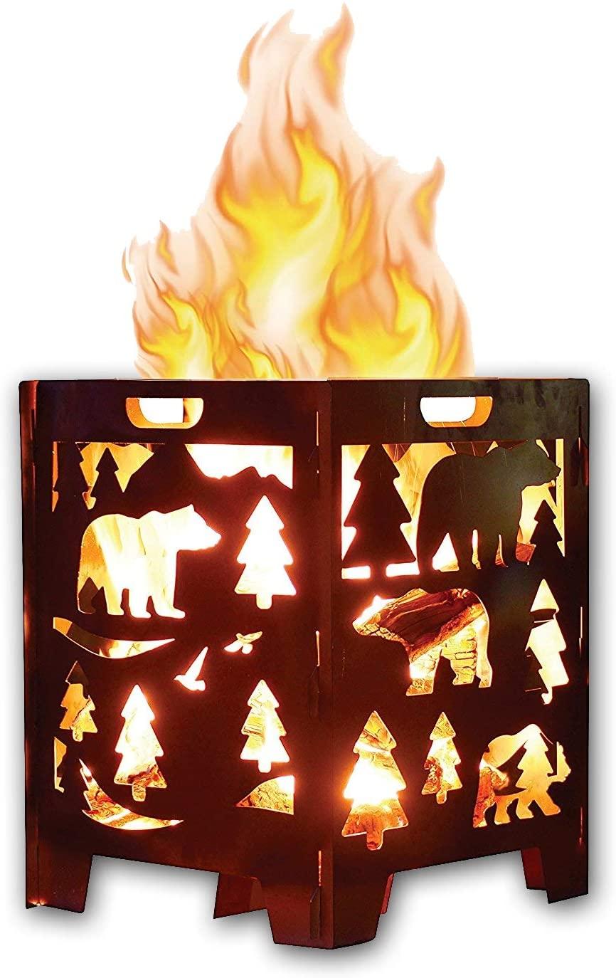 Wood Burning Pit Fire Pit Burn Cage