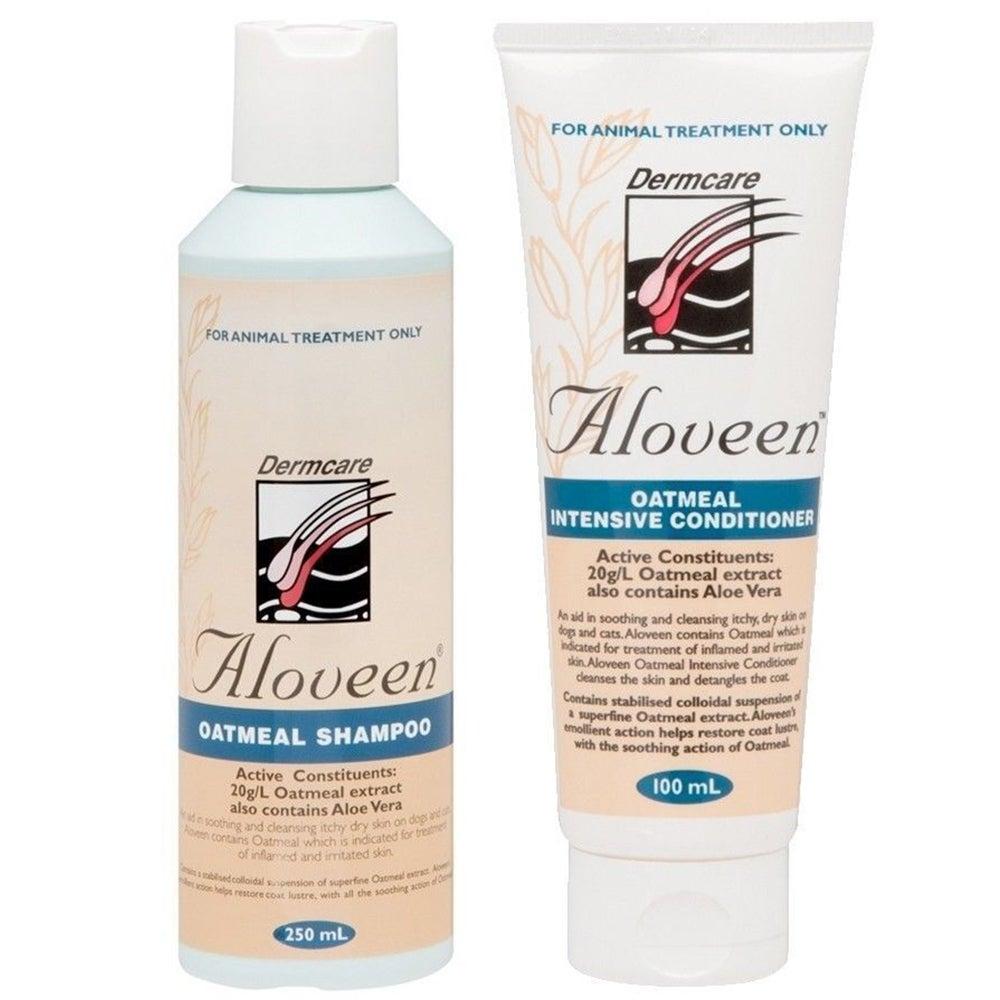 Aloveen Oatmeal Dog Shampoo 250ml & Conditioner 100ml Starter Pack