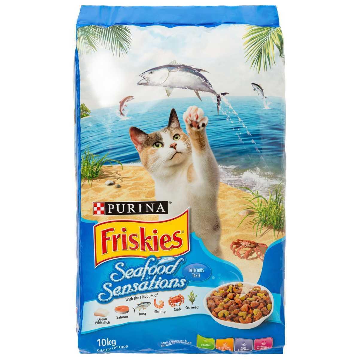Friskies Seafood Sensations Cat Dry Food 10kg
