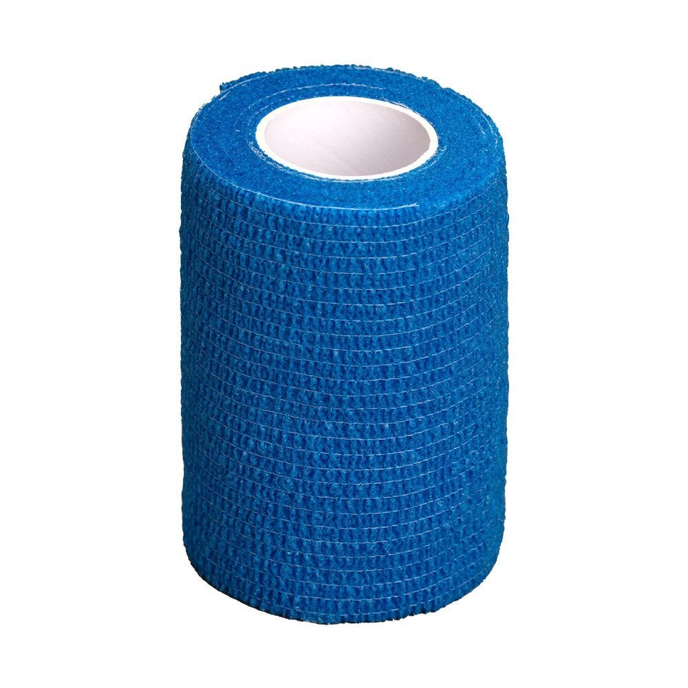 GlobalFlex Easy Rip Cohesive Bandage for Pets Blue - 2 Sizes