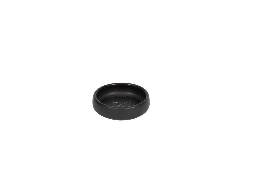 Mog & Bone Handmade Ceramic Non-Slip Cat Bowl Black - 3 Colours