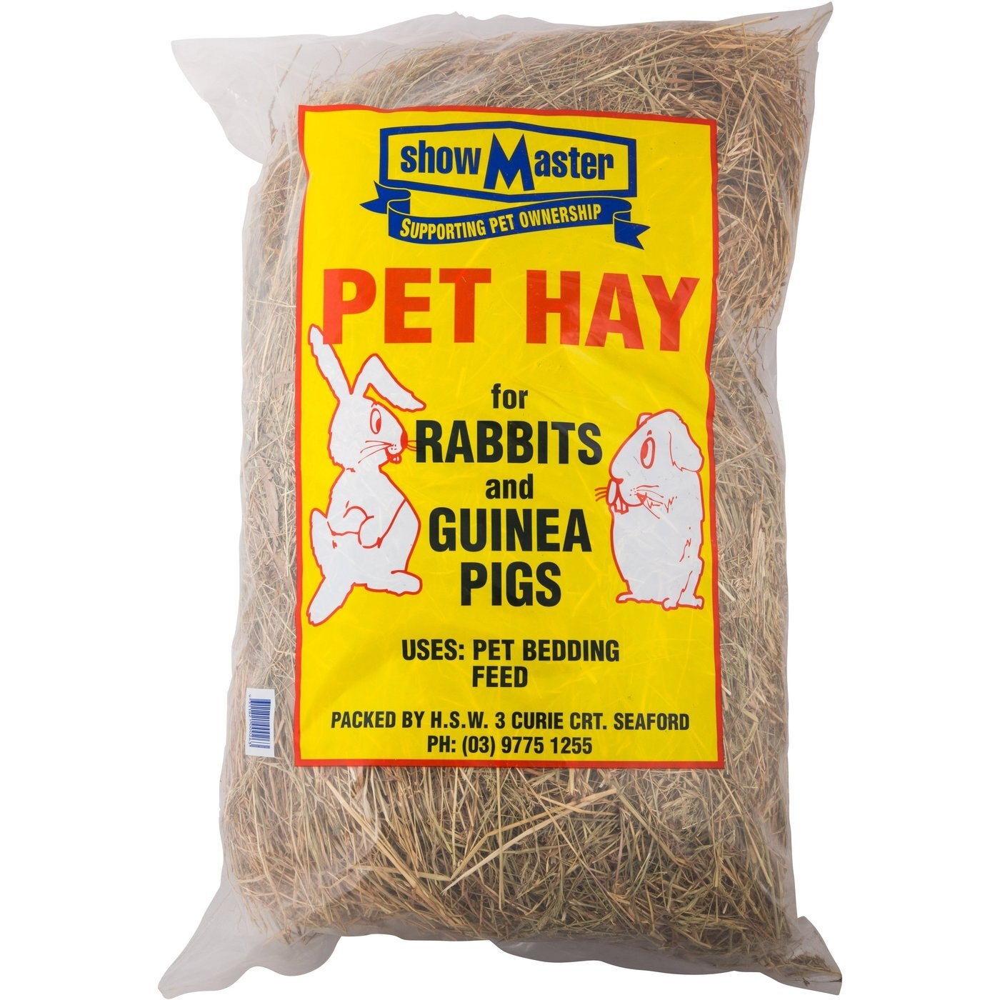 ShowMaster Pet Hay Bedding Feed for Rabbits & Guinea Pigs 2kg