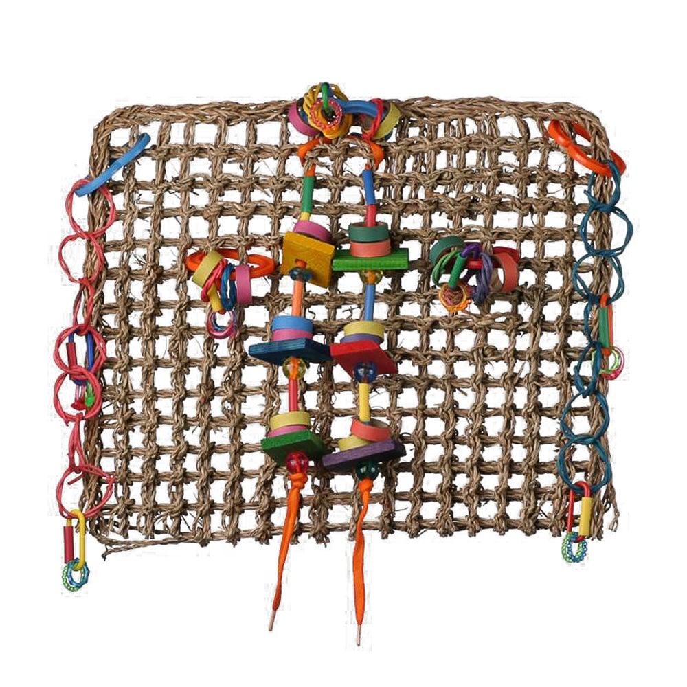 SuperBird Activity Wall Sea Grass Mat Bird Toy Assorted 30 x 35cm