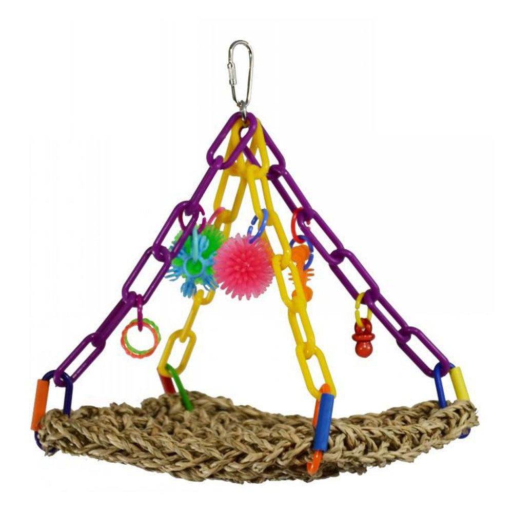 SuperBird Mini Flying Trapeze Swing Sea Grass Mat Bird Toy Assorted 22 x 17cm