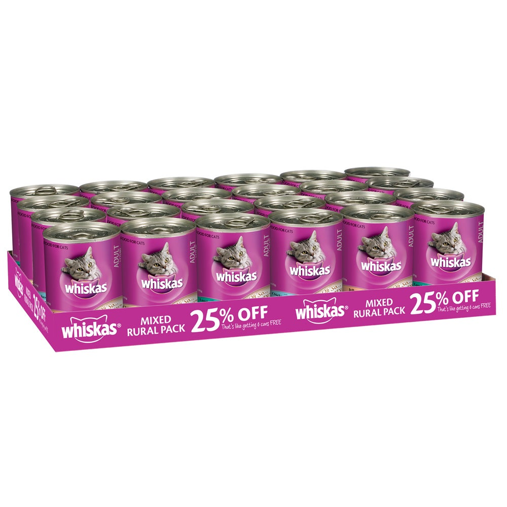 Whiskas Adult Wet Cat Food Mixed Rural Pack 24 x 400g
