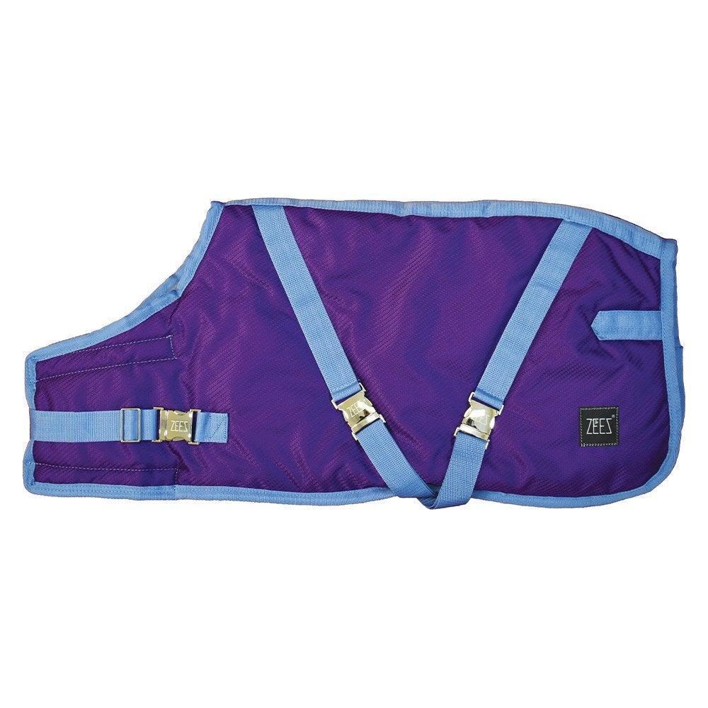Zeez Supreme Dog Coat Grape Purple/ Blue Size 32 81cm