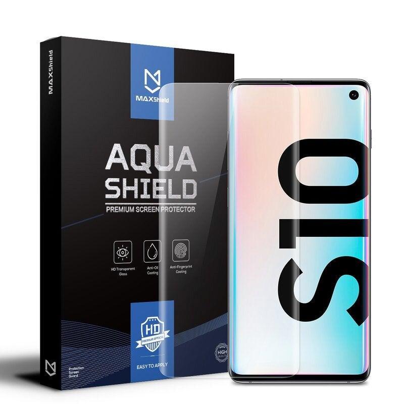 2x Galaxy S10 Screen Protector, MaxShield Aqua Crystal for Samsung
