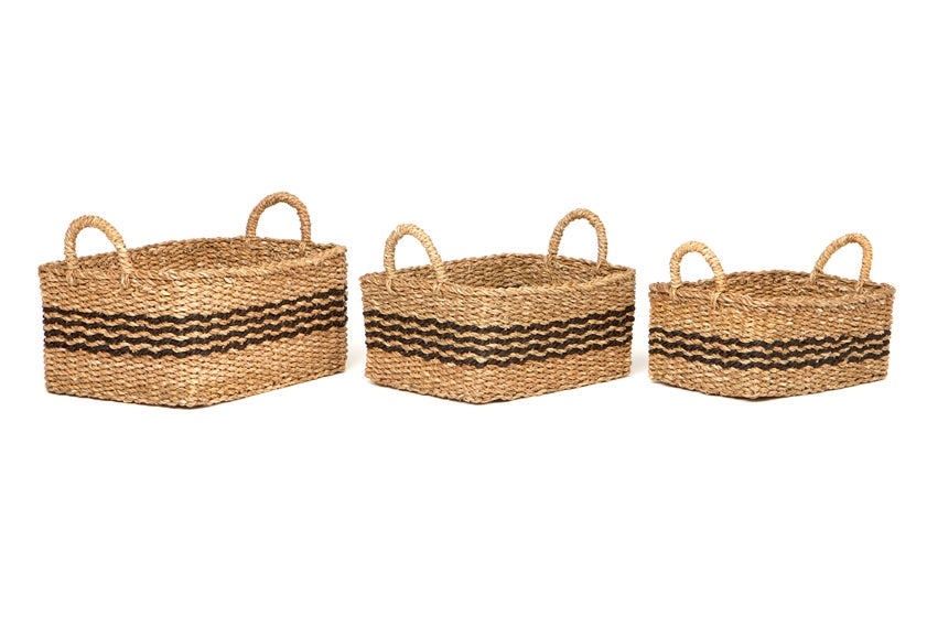 Palash (Set Of 3) Handmade Seagrass Basket