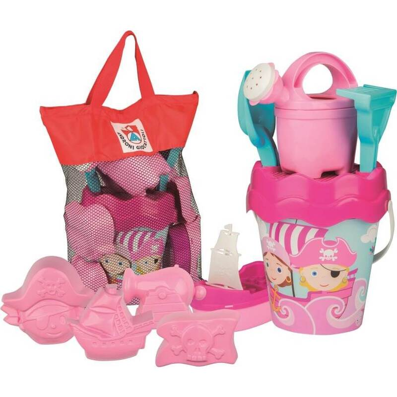 Pirate Set With Bucket And Mesh Bag Pink