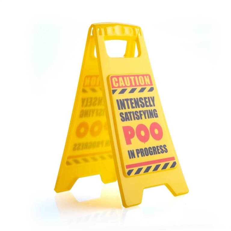 Poo Warning Sign